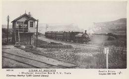 Rhydycar Junction Box TV Train Merthyr Railway Station Postcard - Treni