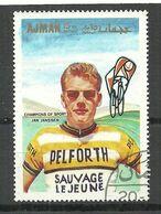 AJMAN 1969 Michel 358 Radsport Jan Janssen From Netherland - Cycling