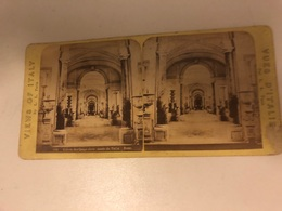 Stereo Photo Vers 1880 Italia -  Views Of Italy  Musée Du Vatican - Photographie