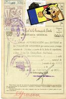 PASSAPORT-SALVACONDUCTO PARA ANDORRA 1956 Especial Frontera - Maps