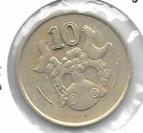 *cyprus 10 Cents 1988  Km  56.2  Xf - Cyprus