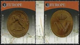 "BÉLGICA /BELGIUM /BELGIEN / BELGIQUE / BELGIE  - EUROPA 2020 - ""ANCIENT POSTAL ROUTES"" - SELLOS De La HOJITA BLOQUE - Europa-CEPT"