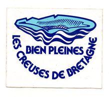 Autocollant Les Creuses De Bretagne Bien Pleines - Format11x13cm - Stickers