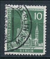 Allemagne Berlin - Germany - Deutschland 1956-63 Y&T N°129 - Michel N°144 (o) - 10p église Empereur Guillaume - Oblitérés