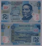 MEXIKO - MEXICO - 20 Peso 2009 Polymer Pick 122 UNC (1)   (21245 - Banknotes