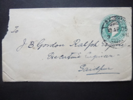 India KEVII Prepaid Half Anna Postmark RAJSHAHI / SAIDPUR 1905 - Ohne Zuordnung