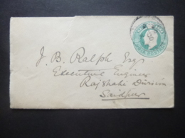 India KEVII Prepaid Half Anna Postmark To SAIDPUR RANIPUR 1904 - Ohne Zuordnung