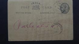 INDIA POSTCARD  POSTMARK KISHANGARH/PARBATSAR 1919 - Indien