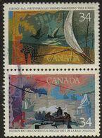 Canada - #1105+07 Pair - Used - 1952-.... Reign Of Elizabeth II
