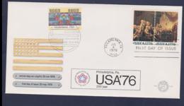 USA & Netherlands  FDC 1976 Independence (G114-12) - Us Independence