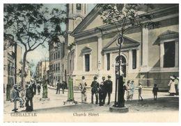 (I 3) Very Old - Gibraltar - Church Street (no Stamp - Posted To Australia) - Gibilterra