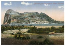 (I 3) Very Old - Gibraltar - View From Spamish Shore (no Stamp - Posted To Australia) - Gibilterra
