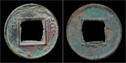 China Xin Dynasty Emperor Wang Mang Privately Cast Small AE Huo Quan Cash - Cina