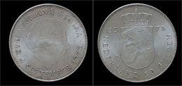 Netherlands Juliana 10 Gulden 1973- 25th Anniversary Reign Of Juliana - [ 3] 1815-… : Royaume Des Pays-Bas