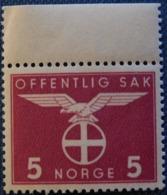 "Norwegen / Norge 1942-44 ""Sun Cross"" 5 öre - Service"