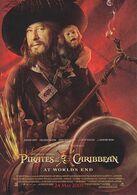 Pirates Of The Caribbean Geoffrey Rush - Plakate Auf Karten