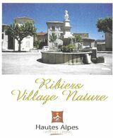 RIBIERS HAUTES ALPES - VILLAGE NATURE, LA FONTAINE STATUE, PAP ENTIER POSTAL FLAMME NEOPOST 2008, VOIR LES SCANNERS - Altri