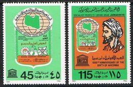 1980Libya849-850Scientific Exhibition And Doctor Avicenna - Libya