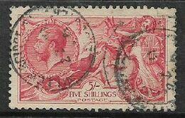 Great Britain, GVR, 1918 -1919,  5/= Rose-red, Bradbury Wilkinson Ptg, C.d.s. Used - Ohne Zuordnung
