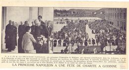 Orig. Knipsel Tijdschrift Coupure Magazine - Godinne - Fete De Charité Avec Princesse Napoleon - 1929 - Old Paper