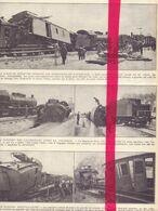 Orig. Knipsel Tijdschrift Coupure Magazine - Viane Moerbeke - Treinongeval, Catastrophe De Chemin De Fer, Train - 1929 - Alte Papiere