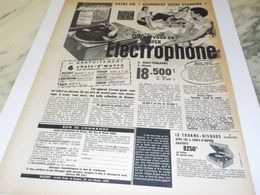 ANCIENNE PUBLICITE TRANSFORME VOTRE VIE ELECTROPHONE  1957 - Musica & Strumenti