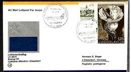 35527 - Vol LJUBLJANA - MÜNCHEN - DÜSSELDORF - 1945-1992 República Federal Socialista De Yugoslavia