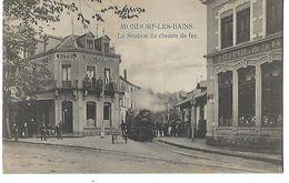 LUXEMBOURG MONDORF LES BAINS LA STATION DU CHEMIN DE FER 1908 CPA 2 SCANS - Mondorf-les-Bains