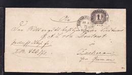 Ziffer 1 Gr. Auf Brief Mit K2 KOENIGSBERG PR 18.3.71 Nach Zacherau Per Germau - North German Conf.