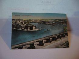 MALTA SALUTING BATTERY  République De Malte  (mt) Repubblika Ta' Malta  (en) Republic Of Malta CPA 1917 - Malta