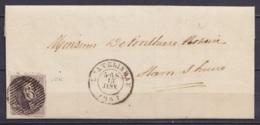 L. Datée 13 Janvier 1861 De Châtelet Affr. N°10A Càd CHATELINEAU /15 JANV 1861 Pour HAM-SUR-HEURE (au Dos: Càd *HAMEAU*) - 1858-1862 Medallions (9/12)