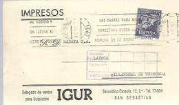 IMPRESO COMERCIAL 1962 - 1931-Heute: 2. Rep. - ... Juan Carlos I