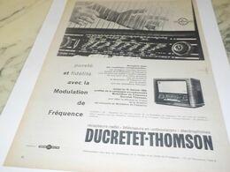 ANCIENNE PUBLICITE TSF THOMSON DUCRETET 1958 - Radio & TSF