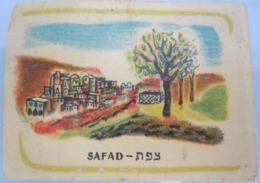AMERICAN DECALCOMANIA COMPANY 1950'S SAFAD צפת ISRAEL LABEL ETIQUETTE AUFKLEBER DECAL STICKER ETIQUETA - Other