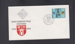 BULGARIA, FDC - 1000 YEARS HASKOVO ** - Heraldik, Wappen