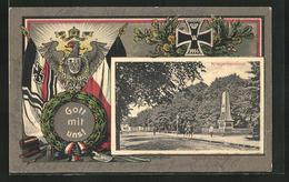 Passepartout-AK Verden / Aller, Kriegerdenkmal, Eisernes Kreuz, Adler Mit Wappen - Verden
