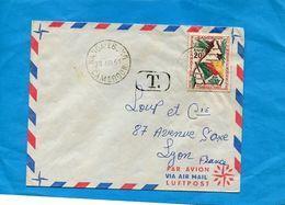 Marcophilie- Lettre -Cameroun->France Cad Nanga-eboko-+ T-1961-stamp JA 60 Indépendance - Kameroen (1960-...)
