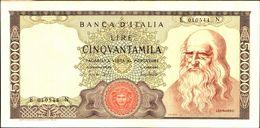 19969) BANCONOTA DA 50000 LIRE BANCA D'ITALIA LEONARDO DA VINCI SENZA FIBRILLE 19/07/19-vedi Foto - [ 2] 1946-… : Repubblica
