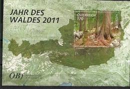 2011  Austria  Österreich Mi. Bl 67 **MNH  Europa: Der Wald. - 2011
