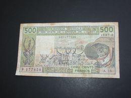 500 Cinq Cents Francs 1987 -BENIN - Banque Centrale Des états De L'Afrique De L'ouest **** EN ACHAT IMMEDIAT **** - Benin