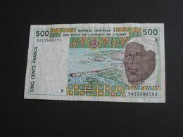500 Cinq Cents Francs 1994 - BENIN - Banque Centrale Des états De L'Afrique De L'ouest **** EN ACHAT IMMEDIAT **** - Benin