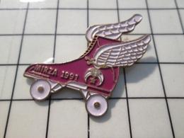 615B Pin's Pins / Beau Et Rare / THEME : SPORTS / PATIN A ROULETTE AVEC DES AILES ROLLER MIRZA - Pin's