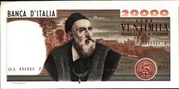 19971) BANCONOTA 20000 LIRE TIZIANO DECR 21 FEBBRAIO 1975 (R) SPL+-vedi Foto - [ 2] 1946-… : Repubblica
