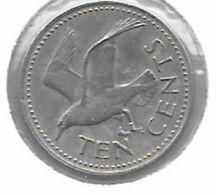 *barbados 10 Cents 1973  Km 12 Unc - Barbados