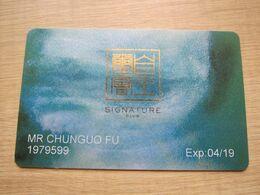 Macao Melco Singature Club - Casino Cards