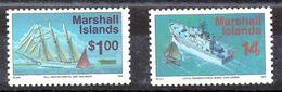 Islas Marshall Serie Nº Yvert 608+ 611 ** BARCOS (SHIPS) - Marshall
