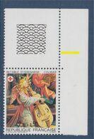 Croix Rouge Française 1985, N°2392 Neuf Rétable D'Issenheim à Colmar, Avec Bord De Feuille En Coin - Ungebraucht