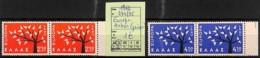 D - [822632]TB//**/Mnh-Grèce 1962 - N° 774/75, Paires, Europa-Cept, Arbres - Sammlungen
