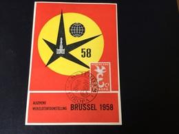 Expo 58 : Pays Bas Timbre Europa Sur Carte De L'expo - Netherlands