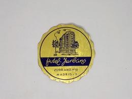 Cx13 CC2) España Spain HOTEL ZURBANO Hotel Label Etiquette Diam.7,5cm - Etiketten Van Hotels